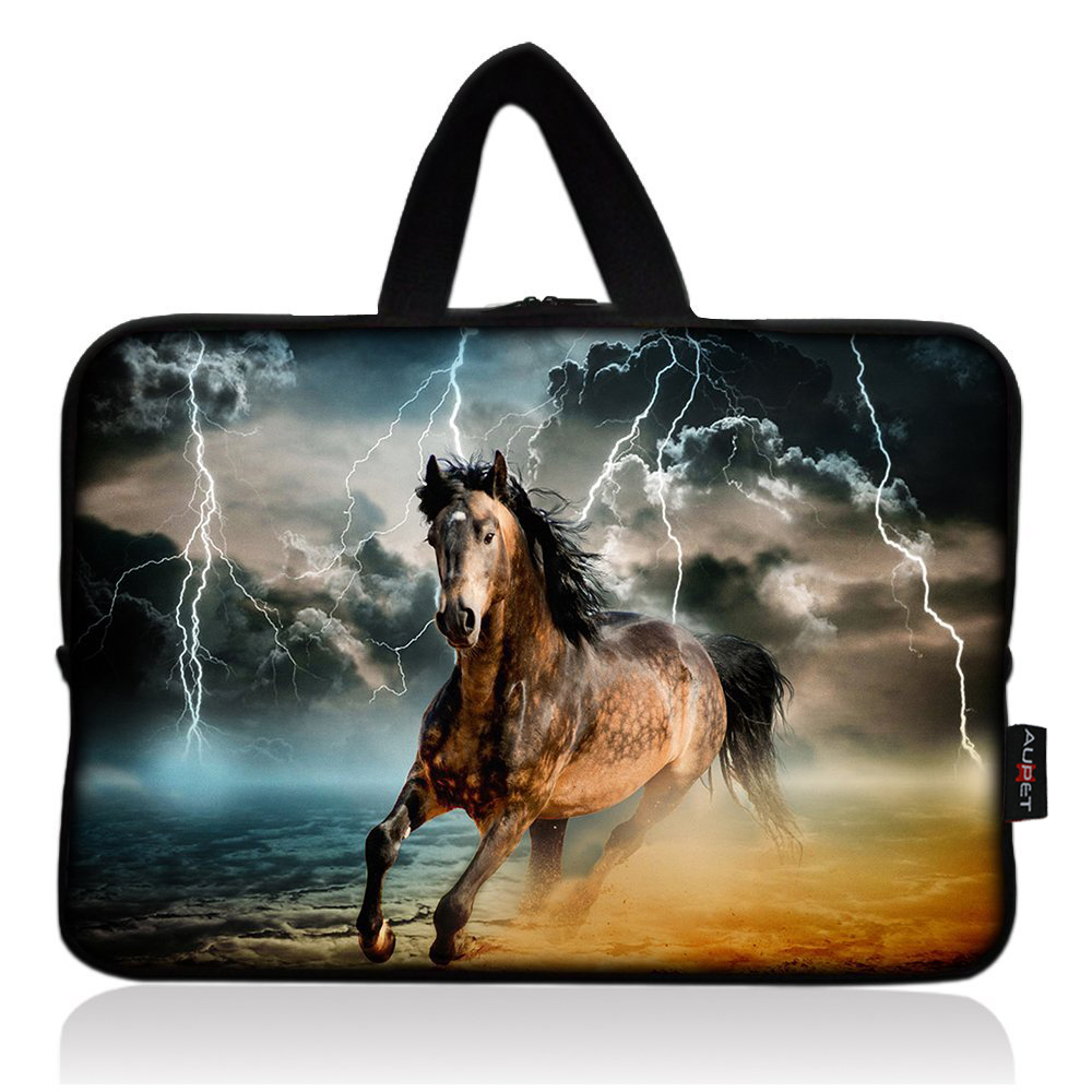 AUPET Cool Running Horse Universal 7~8 inch Tablet Portable Neoprene Zipper Carrying Sleeve Case Bag