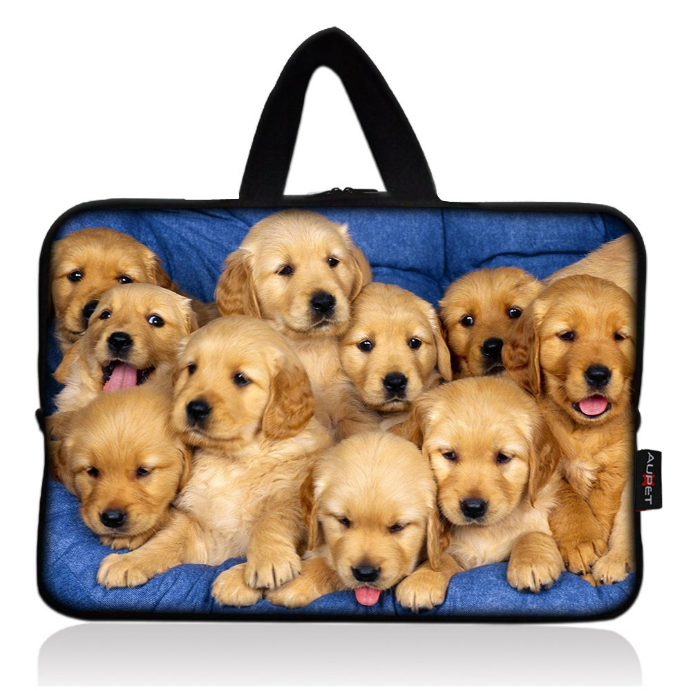 AUPET Cute Many Dogs Universal 7~8 inch Tablet Portable Neoprene Zipper Carrying Sleeve Case Bag