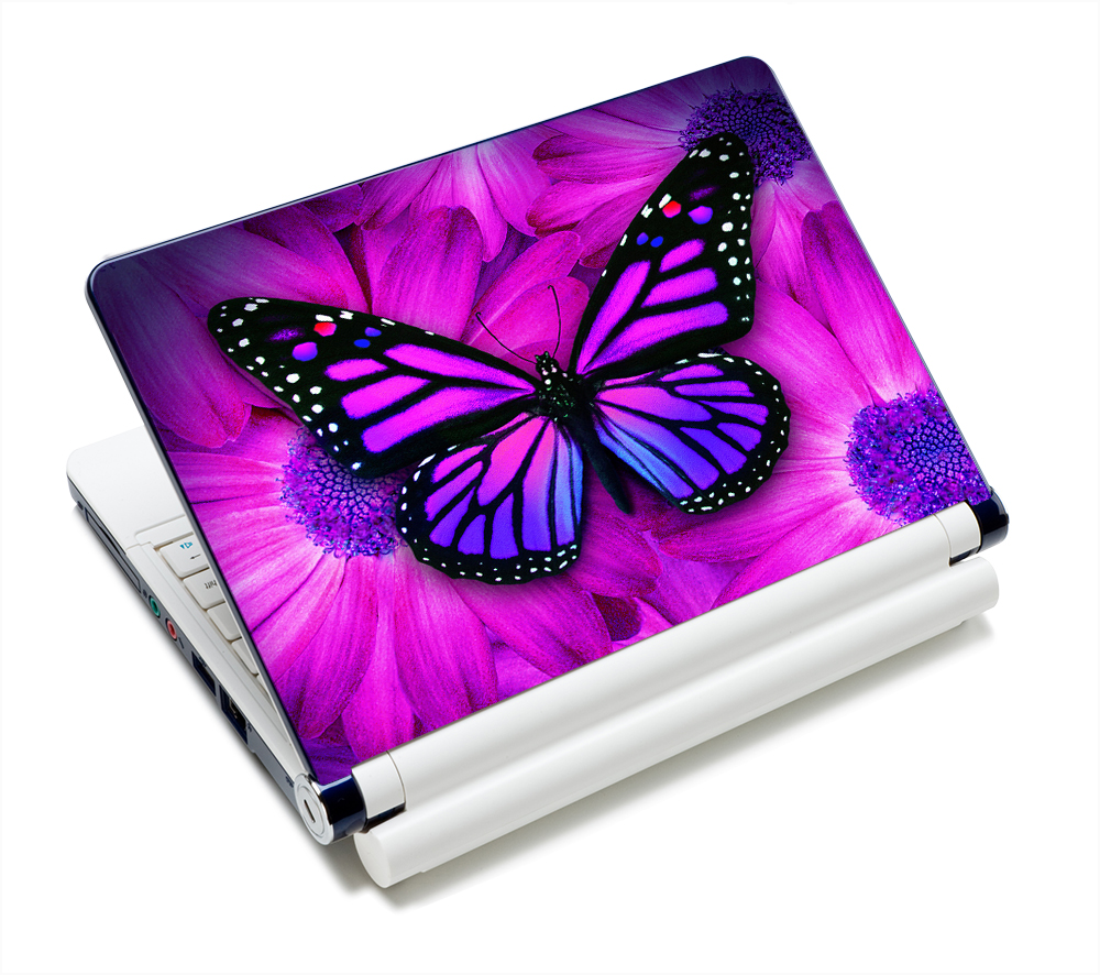 Purple Butterfly Design 12 13 13 3 14 15 15 4 Laptop Skin Sticker