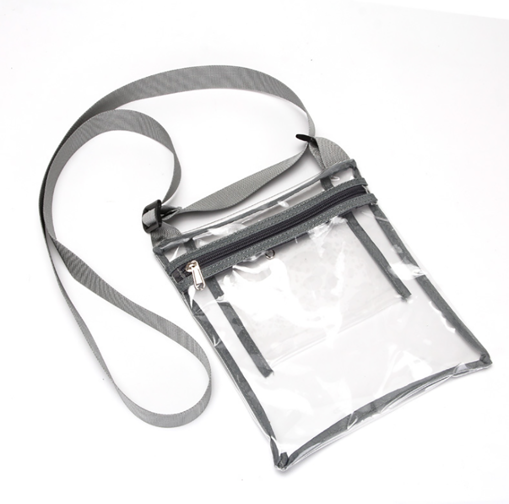 AUPET Clear Crossbody Purse Bag - NFL,NCAA & PGA Stadium Approved Clear Shoulder Tote Bag with Inner Pocket for Work, Sports