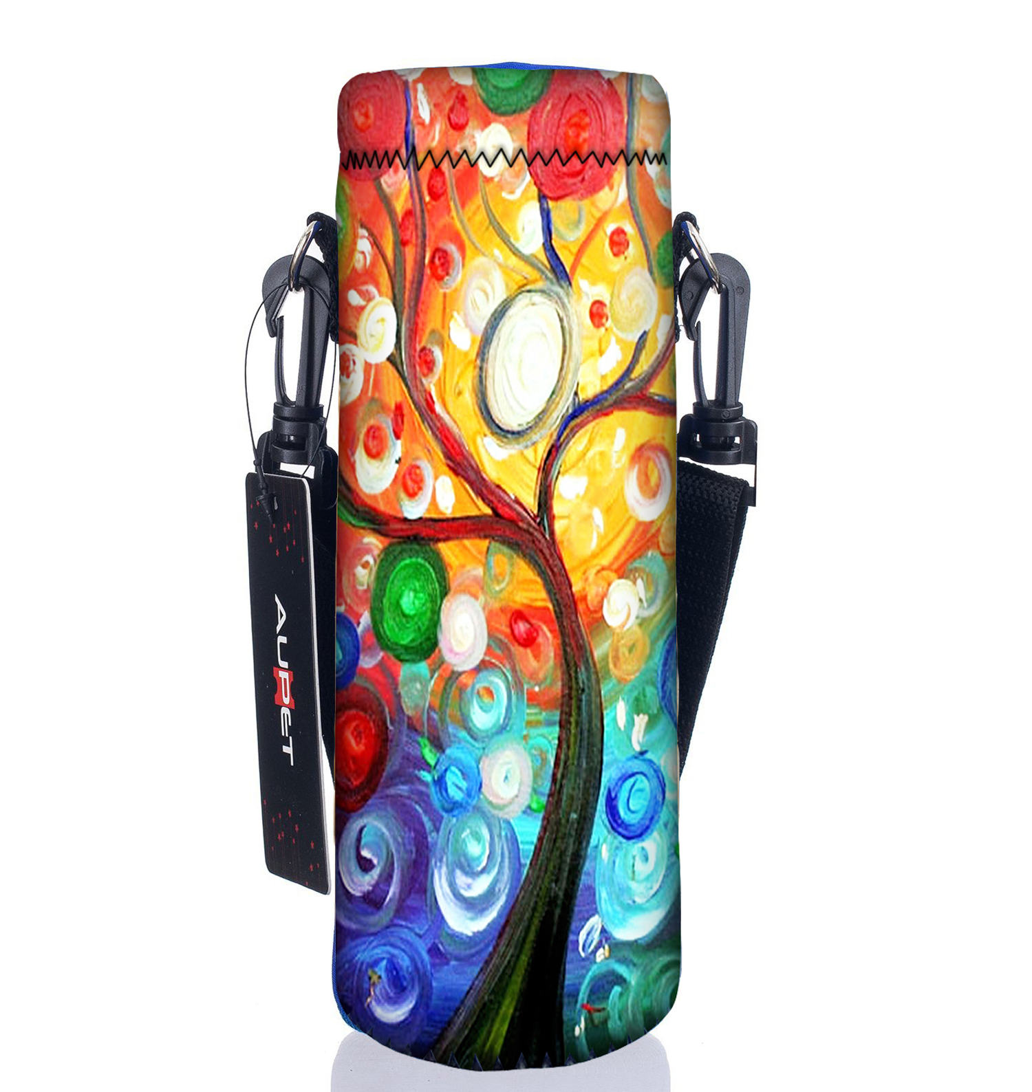 AUPET Water Bottle Carrier,Insulated Neoprene Water bottle Holder Bag Case Pouch Cover 1000ML or 750ML,Adjustable Shoulder Strap