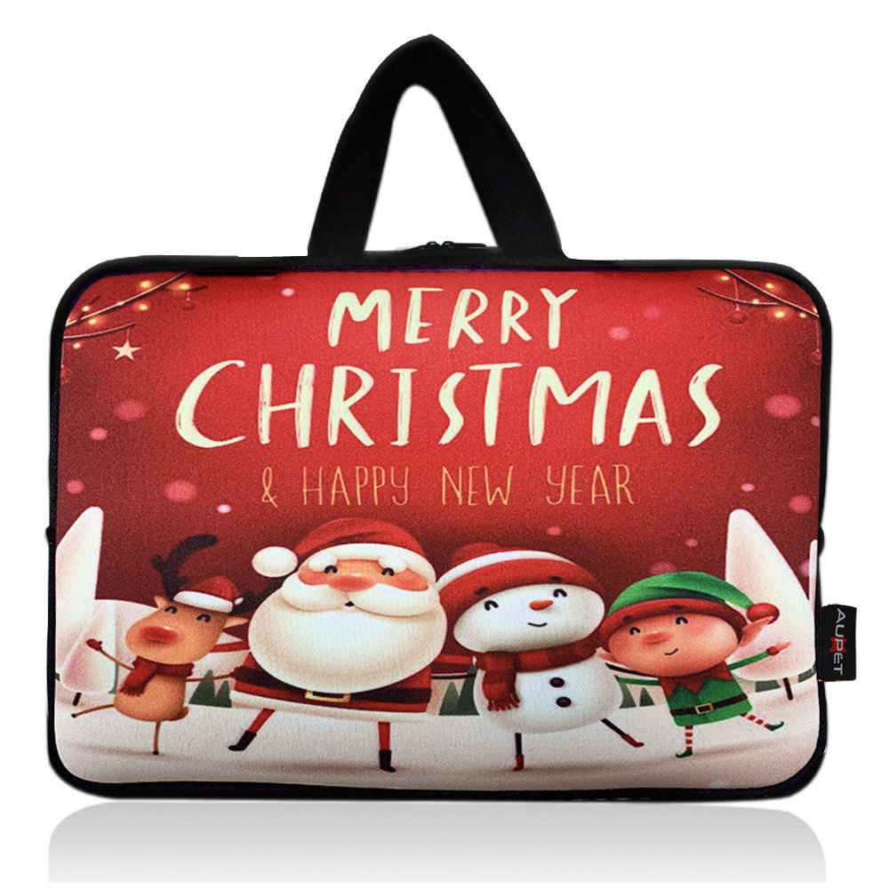 AUPET Christmas Design Universal 7 ~ 8 inch Tablet Portable Neoprene Zipper Carrying Sleeve Case Bag